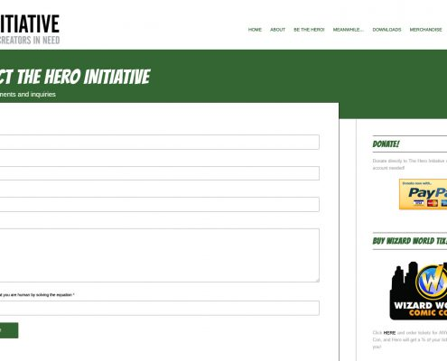 Hero Initiative Website Redesign - Red Rubber Media