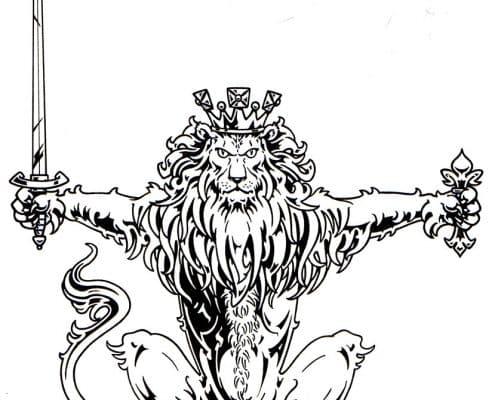Celtic Jackalope - Custom T-shirt Art - by Red Rubber Media
