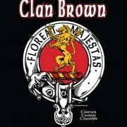 Clan Brown Tshirt Back Art