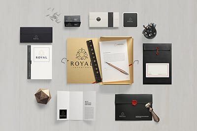 Business cards, letterhead, stationery, promotional items