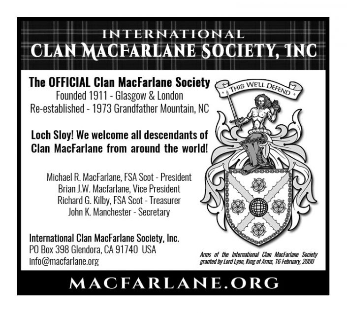 Advertising Creation - Clan MacFarlane original art by Maxine Miller - Red Rubber Media