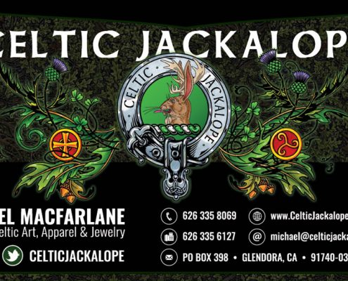 Celtic Jackalope / Royal Publishing Custom Business Cards