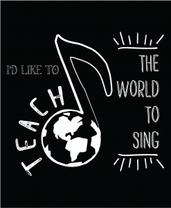 Custom T-shirt Designs - I'd Like To Teach The World To Sing - (c) 2017 RedRubberMedia.com