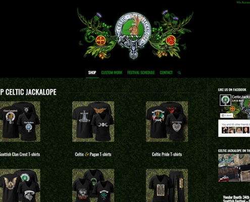 Festival Vendor E-Store created for CelticJackalope.com • Site design by Red Rubber Media