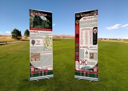 Clan MacFarlane Tent Retractable Banners • Design by Red Rubber Media